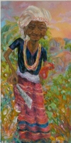 """Pipi"" (Thai Grandmother) (oil on canvas) 2007"