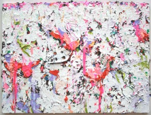 """Deflated"" (White Painting) Oil on Canvas, (29.5×40″) (c)Dominique Ovalle 2008"