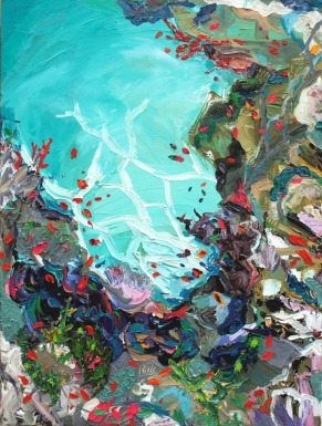 """Suay Reef"" Oil on canvas, (36″x 48″) (c) 2008 Dominique Ovalle"