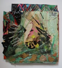 """Teepee Glueshtick"" 24""x24"" Mixed Media on Canvas, September, 2009"