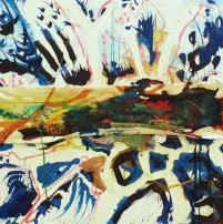 """""""Motley"""" 40""""x40"""" Mixed media on canvas. 2009"""