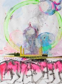 """""""Lovedeep Taj Mahal"""" (15""""x18"""") July, 2009"""