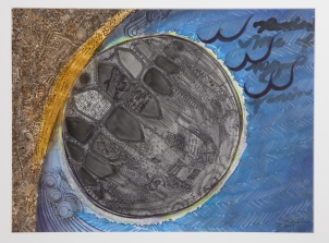 """Lunar Eclipse"" Mixed Media on Paper, July, 2009"