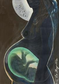 """La Negrita"" (72"" x 96"") Acrylic paint on canvas"