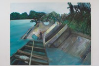 """FOR SALE ($12,000) Shipwreck 1 Oil on canvas100""""x 132""""2013"""