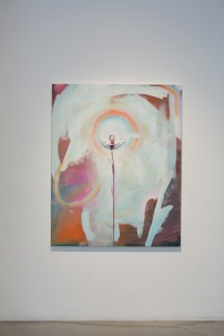 """SOLD- Sun Dog-Oil, gold on canvas60"""" x 48""""2013"""