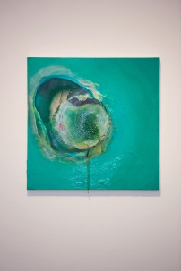 """SOLD -Today you will be with me in ParadiseOil on canvas30"""" x 30""""2012"""