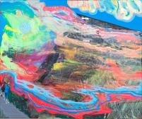 """""""Pajaro Beach House 3"""" (Light Allows) Acrylic on canvas, 20""""x 23.75"""", 2014 ($200)"""