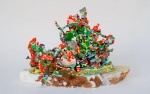 """Mushroom"" Acrylic Medium on Marble, 8""x6""x5"" by Dominique Ovalle, 2014"