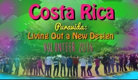 This brightly colored poster image was used as the banner for the artist's crowdfunding web campaign. It successfully told the story of how the artist would work with children in Costa Rica.