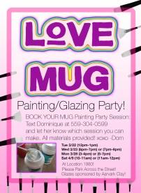 Painting party mug