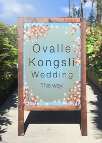 Signage for Ovalle Kongsli Wedding